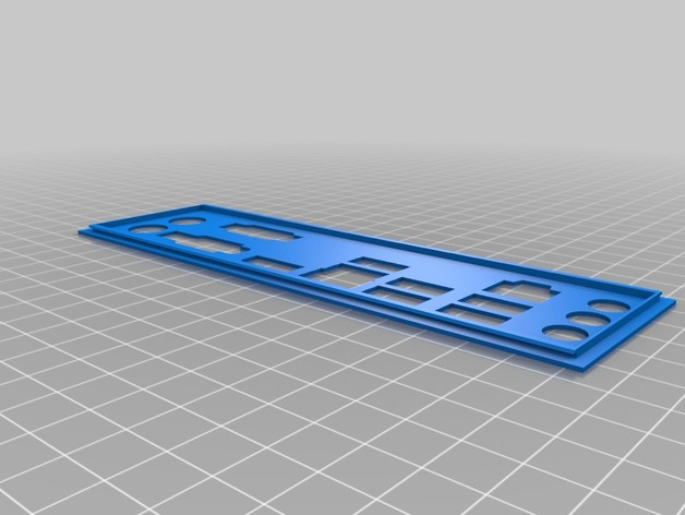 Dell Vostro Motherboard Backplate by thesave - Thingiverse