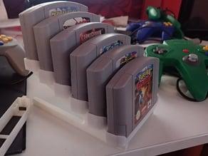 Nintedo 64 game cartridge display stand