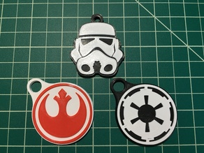 Dual/Multi Material Star Wars Keychains