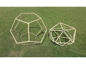 Polyhedrons 20 and 12 faces tube models to build