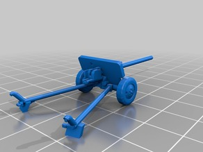 ZiS-2 57mm for 15mm scale wargaming - remix