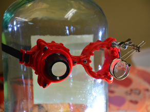 Loupe holder for Steam Punk 3D Printed Goggles + Harbor Freight addons