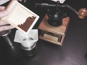 coffee bean funnel for Moka Express