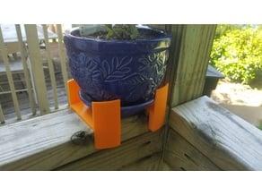 Ledge container (2x4 deck rail)