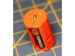 Cylindrical AA to D size battery adapter
