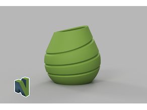 drop vase split vase