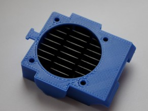 RepRap Pro Ormerod iamburnys One Peice Replacement Hotend Fan Duct/Heatsink Duct - Parametric