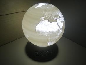 Earth Globe Lamp