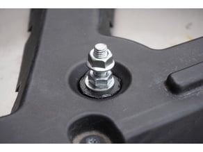 Polaris ATV rack connector (not-quite-lock'n-ride)