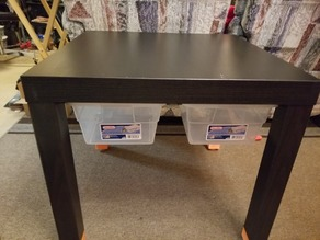 Lack Table Drawer Mount for Sterilite 6Qt Container