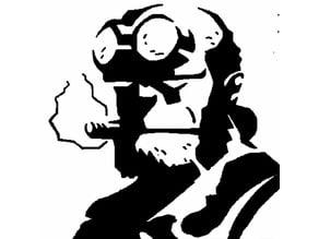 Hellboy stencil