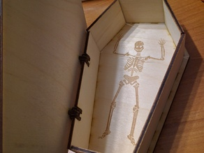 Laser Cut Coffin with Hinges