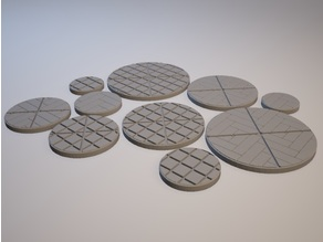 Z.O.D. Modern City Theme Bases (28mm/Heroic scale)