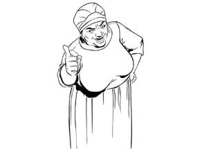 GTA Auntie Poulet stencil