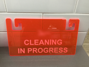 "Dishwasher sign ""cleaning in progress"""