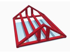 Aquarium roof 20x25 suitable for diy electronic control