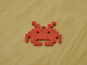Space Invader Ornament/Key Chain