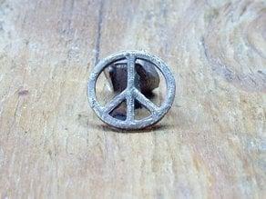 Peace Symbol Medallion (in Bronze)