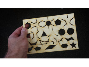 Laser Cut Organic Chemistry Stencil