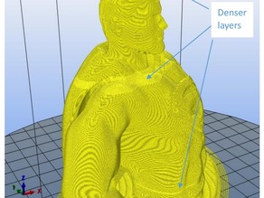 Gmixer for Cura:  A program mixes gcode files with different layer settings