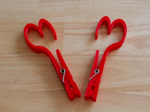 Heart Clothespin