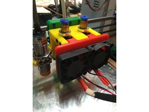 Dual Extruder Mount for Prusa I3 Rework X Carriage