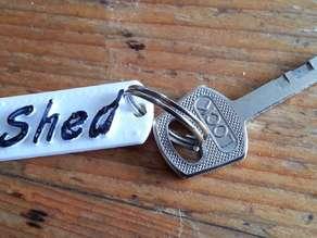 Shed keyring label