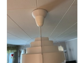 Ceiling cup extension for ceiling lamps