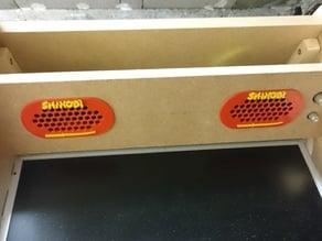 Shinobi handle and speaker enclosure for bartop