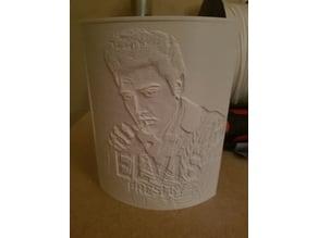 Elvis Presley Lithophane with enclosure