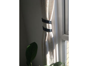 Curtain spiral holder