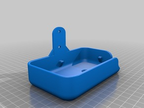Soap box remix, Mounting on Wall 25mm apart holes, 4mm holes.