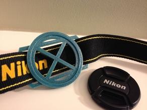 Camera Lens Cap Holder_58mm x 37mm_Nikon strap