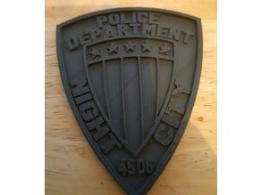 night city police badge from Cyberpunk 2077