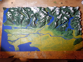 Vancouver - British Columbia - 3D Map - Topographic