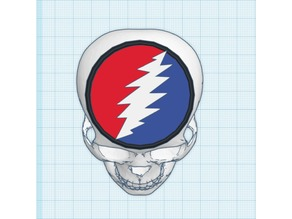3D Steal Your Face Grateful Dead Skull