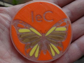 Phosphorescent butterfly with logo