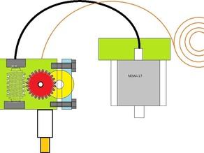 remote extruder with flexible drive shaft