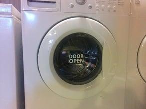 Door Open Sign for Washing Machine