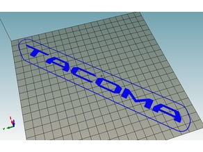 TACOMA lettering