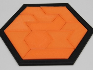 Two hexagon puzzles - five and nine pieces