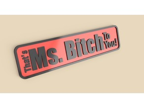 Ms.B!tch Sign