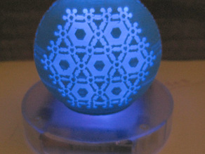 Translucent Snowflake Ornament