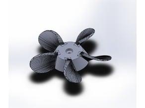 (remix) 5-blade propeller for Minn Kota Endura electric boat motor