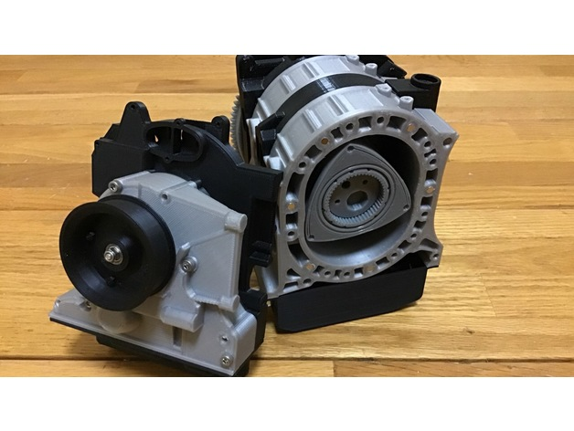 Wankel Rotary Engine Mazda RX-7 13B Working Model by