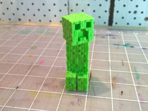 Textured Minecraft Creeper with Moveable Head