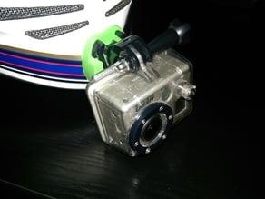 GoPro mount helmet jaw AGV Stealth SV