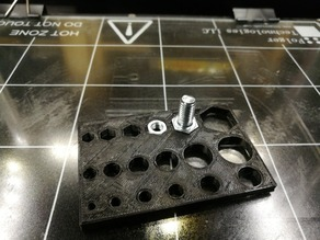 Test pattern for dimensionally accurate openings in 3D printing especially for fusion 360