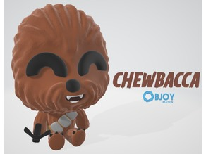 Chewbacca Figure & Keychain - by Objoy Creation