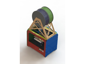 Dual Jumbo 3.5kg spool holder (plywood) for Replicator